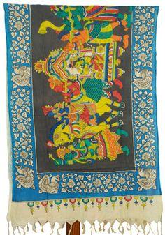 Kalamkari Dupatta - Design 124