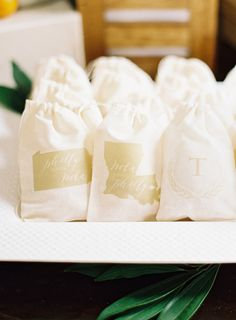 Favor bags: http://www.stylemepretty.com/2015/09/12/citrus-inspired-couples-shower/   Photography: Marissa Lambert - http://marissalambertphotography.com/