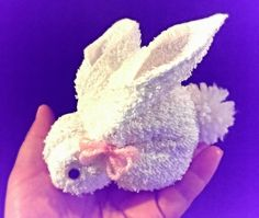 """This is a tutorial for making a bunny using a towel. It's a very easy way and good for kids.I hope you like this video.Please """"like'','' subscribe'', and ''c..."""