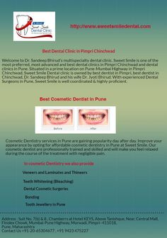If tooth alignment, buck teeth, gap in teeth is your problem then orthodontist in Pune at Sweet Smile will give a reason to Smile. We offer you some of the best orthodontist in Pune. At Sweet Smile is one of the most preferred dental clinics and be assured that your case will be in the hands of some of the best orthodontists in Pune.
