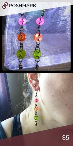 Earrings Who says jewelry has to be gems and shiny? These fun button earrings are fun and sassy. Great for anyone who loves sewing, working with kids, or has a fun sense of humor! Jewelry Earrings