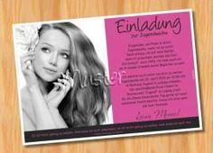 Einladung Einladungskarten Jugendweihe MUSTER 21  - Bild vergrößern