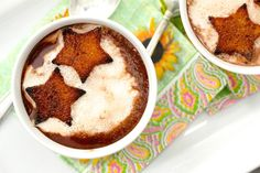 ... Soup with Cinnamon-Toasted Pound Cake Croutons #chocolateparty