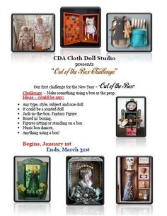 "CDA- Cloth Doll Studio 1Q 2014 ""Out of the Box Challenge"""
