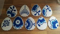 Royal Copenhagen æg Hama Beads Design, Hama Beads Patterns, Beading Patterns, Bead Crafts, Diy And Crafts, Arts And Crafts, Perler Bead Art, Perler Beads, Iron Beads
