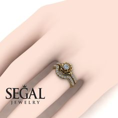 Unique Bridal Set by Segal Jewelry Unique Diamond Engagement Rings, Beautiful Engagement Rings, Diamond Wedding Rings, Diamond Rings, Black Diamond, Bridesmaid Jewelry Sets, Bridal Jewelry, Bridal Tips, Jewellery