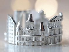 New Orleans Cityscape Skyline Statement Ring Mother of the