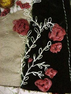 ribbon embroidery embellishment