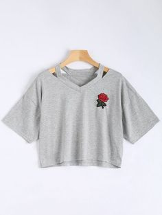 GET $50 NOW   Join Zaful: Get YOUR $50 NOW!http://m.zaful.com/floral-embroidered-cold-shoulder-top-p_287191.html?seid=4476009zf287191