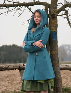 Manteaux longs, beautiful coat pure wool est une création orginale de basia-kollek sur DaWanda