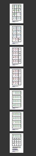 cartellini dei numeri Montessori 1