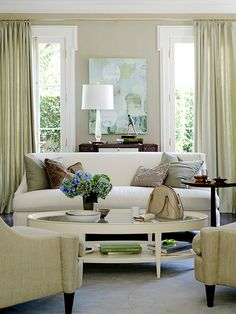 Beautiful Modern Chic Living Room by Barbara Barry