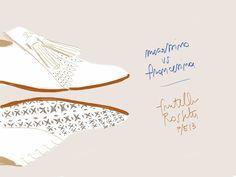 Mocassino e Francesina Fratelli Rossetti P/E13. #illustration Open Toe, fashion illustrated - Opentoeillustration.com