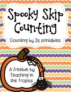 Get your little learners excited about skip counting by 2s with these differentiated halloween printables! Includes three levels of difficulty (write all the numbers, write only the missing numbers, and trace all the numbers) to allow for easy differentiation.These can also be used with dry erase markers in sheet protectors or write and wipe pockets as a fun early finisher activity!