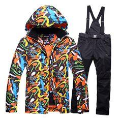 da39676fcd skiing jacket+pant snow suit fur lining -20 DEGREE ski suit kids ...