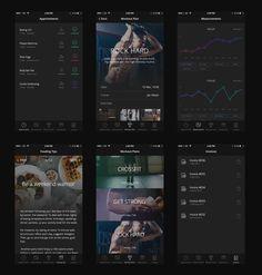 Mobile, App, iOS, iPhone, dashboard, sport, dark