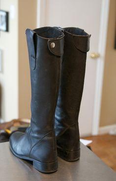 steve madden black riding boots