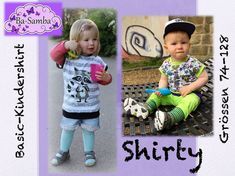 Freebook Shirty T- Shirt Gr. Sewing For Kids, Baby Sewing, Baby T Shirts, Shirt Embroidery, Free Girl, Sewing Patterns Free, Free Pattern, Samba, Sewing Clothes