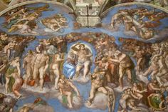 """The final jucio detail, in one of the walls. What the Sistine Chapel was long overdue an air conditioning system to help counteract """"excessive human pressure"""" as the director of the Vatican Museums himself denounced in 2010."""