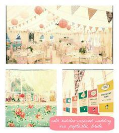 Cath Kidston-Inspired Wedding via Poptastic Bride!  http://poptasticbride.com/2012/06/diy-vintage-wedding/