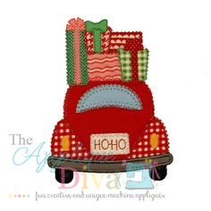 What's New :: #742- Christmas Car with Presents - The Applique Diva