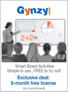 Deal Alert: Fresh ideas and activities for your Smart Board, tested and approved by teachers! Try Gynzy's interactive whiteboard software free for 6 months.