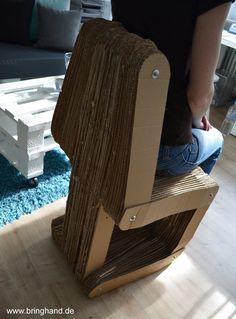 So sieht es von hinten aus :-)  #diy #selbstmachen #upcycling #stuhl #recycling