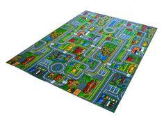 Piccola Città Tappeto DA Gioco DI Strada PER Auto Bambini Guide Parco | eBay
