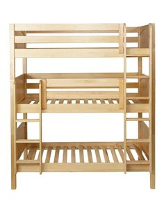 Triple Bunk Beds  You can configure Matrix Triple Bunk Beds in several different ways. If you want to have all three bunk beds on the same wall, choose a stacked triple bunk. This bunk configuration works well in rooms with higher ceilings. Two ladders allow for easy access to the middle and top bunks.