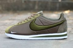 huge selection of de998 0bdb5 Mens Womens Nike Cortez Nylon Sneakers Medium Olive White 789594 221 Women s  Sneakers, Cheap Sneakers