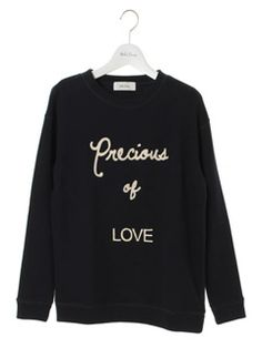 Mila Owen(ミラオーウェン) | USAGI ONLINE(ウサギオンライン)|ファッション通販サイト : トップス > メッセージ刺繍トレーナー