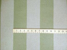 Next Lawson stripe green chenille upholstery fabric with ruler