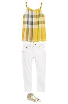 Burberry Tank Top & Skinny Jeans (Little Girls & Big Girls)  available at #Nordstrom