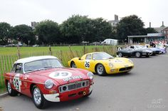 MGB, DRX 255C which took second in class at Le Mans in 1965 being crewed by Paddy Hopkirk of Ireland and Andrew Hedges of Great Britain. Chelsea Auto Legends held at the Royal Hospital Chelsea