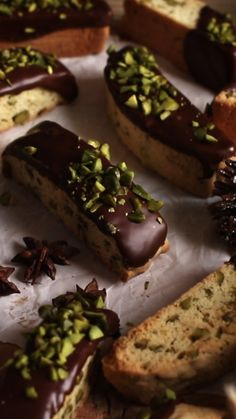 These are the best Chocolate Pistachio Biscotti you will ever have. Intense flavors. Not too dry nor hard. Very easy to make. #biscotti #chocolate #pistachio #cookies #christmas #christmascookies
