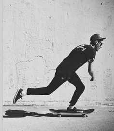 Present play, This man in the image has an explorer personality, He loves searching out new places to skate and travels by skateboard. Inherent Attraction is also shown in this image. You can tell by his body language that he enjoys skateboarding more than words can explain.