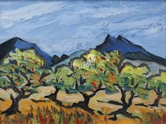 Olive Trees in Tuscany by British Contemporary Artist David BARNES Landscape Art, Landscape Paintings, Post Impressionism Art, House Paintings, Acrylic Painting Techniques, Jewish Art, Olive Tree, Tree Art, Painting Inspiration