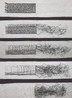 Gail Baxter Size: 140 x 70 cm Material: Waxed linen thread, cotton fabric Date: 2009: