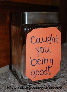Re-purposed Ideas Weekly #22 – Caught Ya Being Good Jar