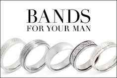 Whether #he's a #stylish office ace by day or hard rocker by night, every #man deserves that extra #touch of #style. And with our #bold chains and #smart, #sleek #bands – all priced at #under #$40 – we've got just the #ring.