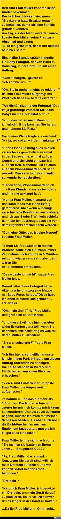 Herr und Frau Müller konnten keine Kinder bekommen...