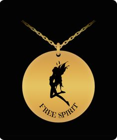 Free Spirit, Laser Engraving, 18k Gold, The Incredibles, Necklaces, Pendant, Stainless Steel, Design, Art