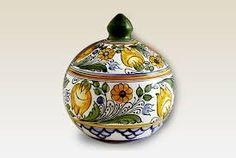 by HabanCeramic, Yellow Flowers, Ceramic Pottery, Blue Yellow, Folk Art, Wedding Gifts, Ceramics, Handmade, Etsy, Home Decor