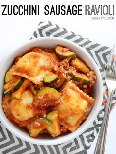 Zucchini Sausage Ravioli