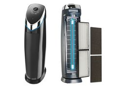UV Air Cleaning Purifier by Guardian Technologies - captures 99.97% of airborne allergens. And it kills common germs, bacteria, and mold spores with UV-C light