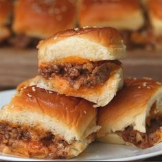 1251 reviews · 30 minutes · Serves 6 · Here's what you need: ground beef, salt, pepper, white onion, garlic, ketchup, mustard, worcestershire sauce, brown sugar, dinner roll, shredded cheddar cheese, butter, sesame seed