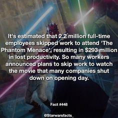 Wish my job shut down for . They just call me hey where you at? Star Wars Facts, Star Wars Humor, The Phantom Menace, Star War 3, The Force Is Strong, Love Stars, Clone Wars, Fun Facts, Nerdy