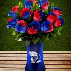 Jayhawk Bouquet...now THOSE are flowers I wouldn't mind getting!!