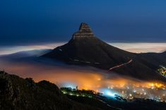 When the city sleeps, I hike to mountains. Taken from the India Venster hiking trail on Table Mountain at 5am this last week. This has to be one of my favourite hikes to see low cloud when it rolls into Cape Town. Autumn and Spring are the best seasons to catch it action. 30 second exposure at f5.6. Helpful tip - use a soft grad filter and flip it upsdie down, from the bottom up, to reduce the insane bright lights from the city. This helps to get longer exposures. Best Seasons, Table Mountain, Bright Lights, Hiking Trails, Cape Town, Landscape Photography, South Africa, Mount Everest, Jay