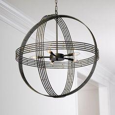 Banded Orb 5-Light Chandelier | Ballard Designs